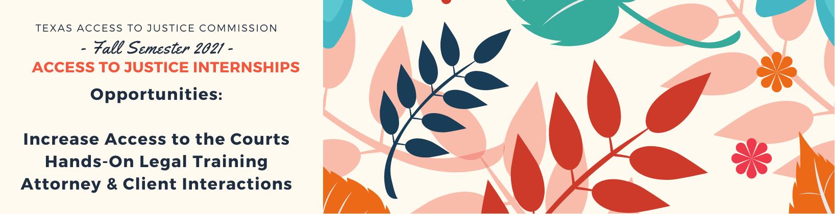 Fall 2021 Floral Motif Access to Justice Internship Program
