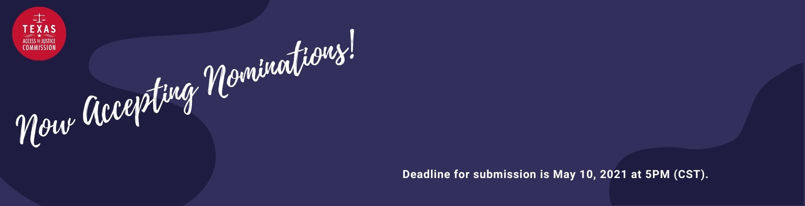 Now Accepting Nominations! Deadline for submission is May 10, 2021 at 5PM (CST).